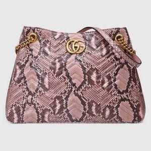 Gucci GG Marmont Matelassé Python shoulder bag NWT